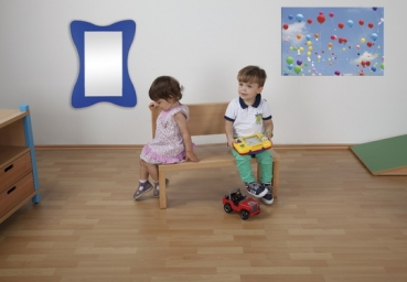 kindergarten mit r ckenlehne f r kindergarten u kita krippen sitzbank. Black Bedroom Furniture Sets. Home Design Ideas
