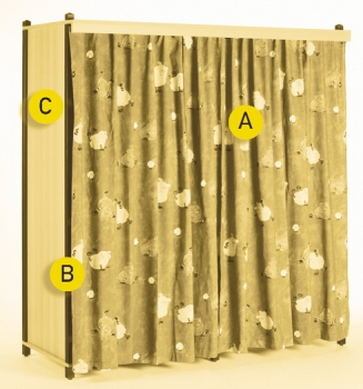 kindergarten f r stapelbettchen in. Black Bedroom Furniture Sets. Home Design Ideas