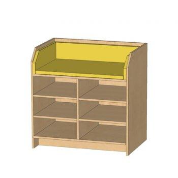 kindergarten wickelkommode mit 6 offenen. Black Bedroom Furniture Sets. Home Design Ideas