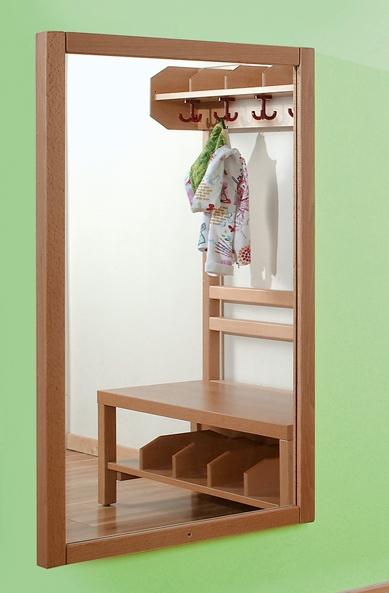 kindergarten garderobenspiegel in. Black Bedroom Furniture Sets. Home Design Ideas