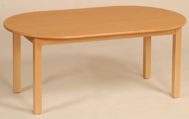 kindergarten ovaltisch mit massivholzgestell 160 x 120 cm. Black Bedroom Furniture Sets. Home Design Ideas