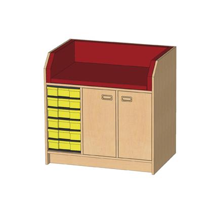 kindergarten wickelkommode mit 6. Black Bedroom Furniture Sets. Home Design Ideas