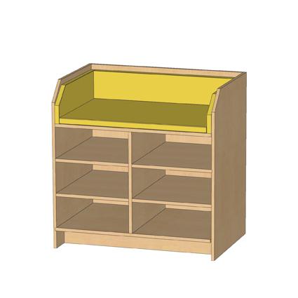 kindergarten wickelkommode mit 6 offenen regalf chern kindergarten. Black Bedroom Furniture Sets. Home Design Ideas