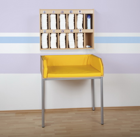 kindergarten wickeltisch mit strahlrundrohrgestell kinder wickeltisch. Black Bedroom Furniture Sets. Home Design Ideas